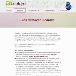 Les services EcoInfo – EcoInfo