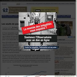 Les seuils de pauvreté en France