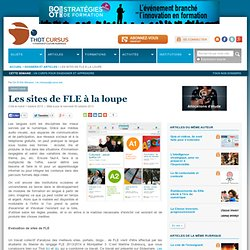 Les sites de FLE à la loupe