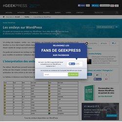 Les smileys sur WordPress