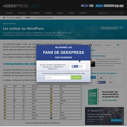 Les smileys sur WordPress