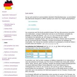 les sons de l'allemand