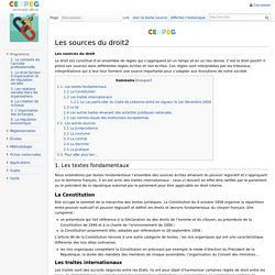 Les sources du droit2 - ECODROIT