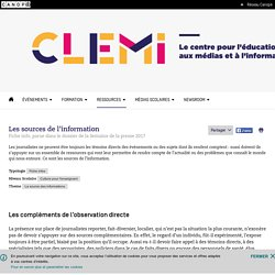 Les sources de l'information- CLEMI