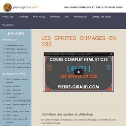 Les sprites en CSS