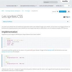 Les sprites CSS