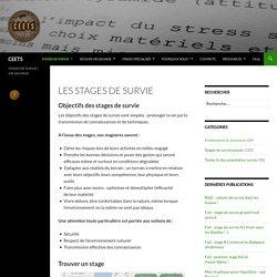 Les stages de survie
