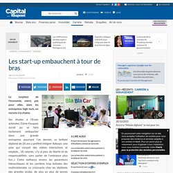 Les start-up embauchent à tour de bras