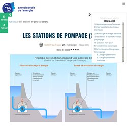 Les stations de pompage (STEP)