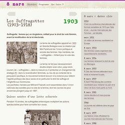 Les Suffragettes (1903-1918)