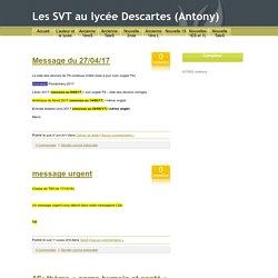 Les SVT au lycée Descartes (Antony)