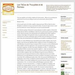 Les TâCos de Thucydide et de Rameau