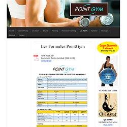 Nos Formules - PointGym