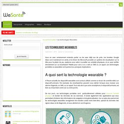 Les technologies Wearables