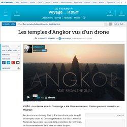 Les temples d'Angkor vus d'un drone