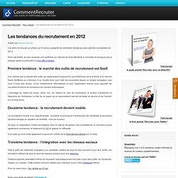 Les tendances du recrutement en 2012