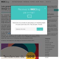 Les tendances du web design de 2015 - Wix.com