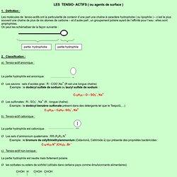 LES TENSIO- ACTIFS