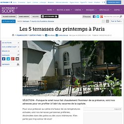 Les 5 terrasses du printemps à Paris