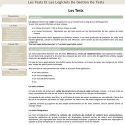 Les tests et les logiciels de gestion de tests