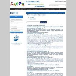 Les textes officiels de l'EPS >