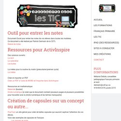 Les TIC - Site de espacecp !