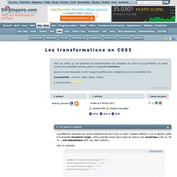 Les transformations en CSS3