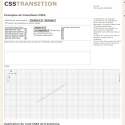 Les transitions CSS3