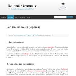 Les troubadours (leçon 4)
