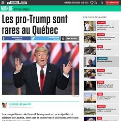 Les pro-Trump sont rares au Québec