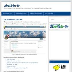 Les tutoriels d'EduTwit – AbulÉdu-fr