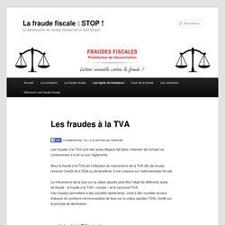Les types de fraudes à la TVA