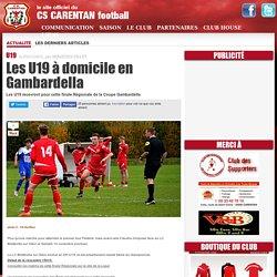 Les U19 à domicile en Gambardella
