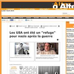 """Les USA ont été un """"refuge"""" pour nazis après la guerre"""