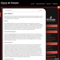 Les valeurs | Classe de français