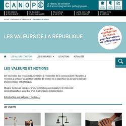 Les valeurs de la République - Réseau Canopé