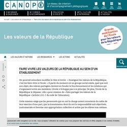 Canopé Valeurs de la République