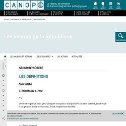 Canopé - explications notion Sûreté et sécurité