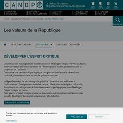Canopé : Développer l'esprit critique