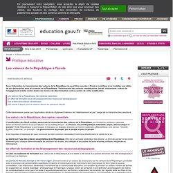Les valeurs de la République à l'école - Ministère de l'Éducation nationale et de la Jeunesse