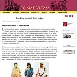 Les vêtements sous la Rome antique