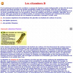 Les vitamines B