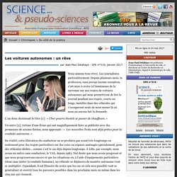 Les voitures autonomes : un rêve