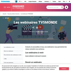 Les webinaires TV5MONDE