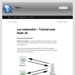 Les websocket – Tutoriel avec Node JS