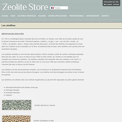 Les zéolithes - Zeolites