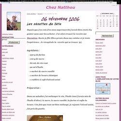 Les zézettes de Sète - Chez Natthou