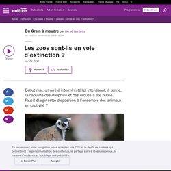 FRANCE CULTURE 11/05/17 DU GRAIN A MOUDRE - Les zoos sont-ils en voie d'extinction ?