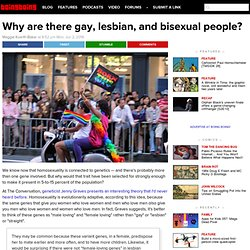 Why are there gay, lesbian, and bisexual people?