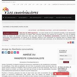 Abrégé du Manifeste convivialiste